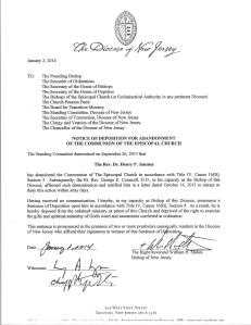 Deposition Letter, 010214